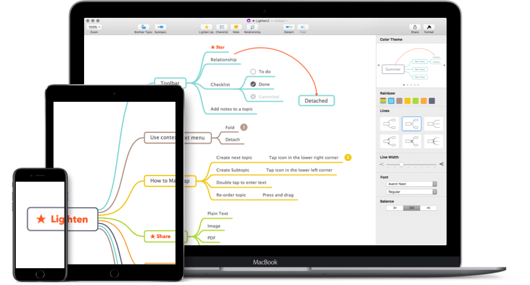 lighten a mind mapping app for iphoneipad - Mind Map App For Mac